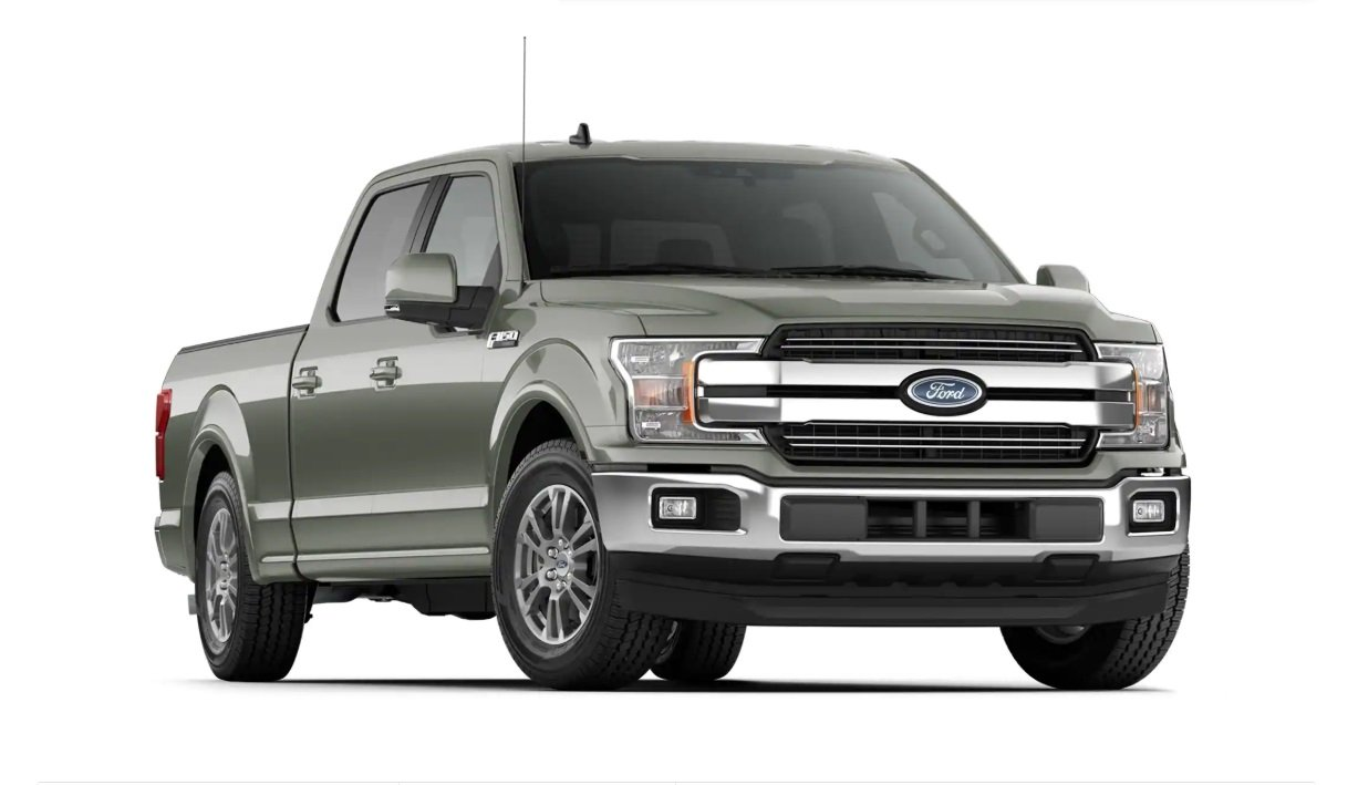 ford f150 lariat cinza visao frontal