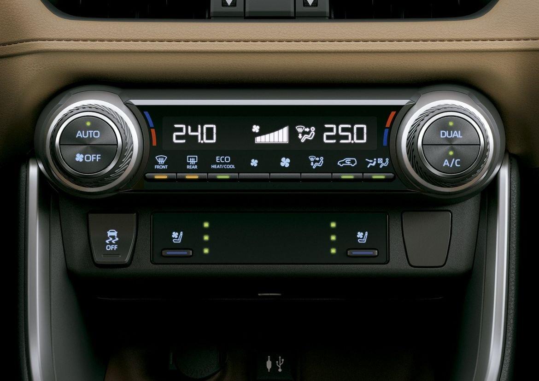 ar condicionado integrado digital do rav4 connect hybrid 2020