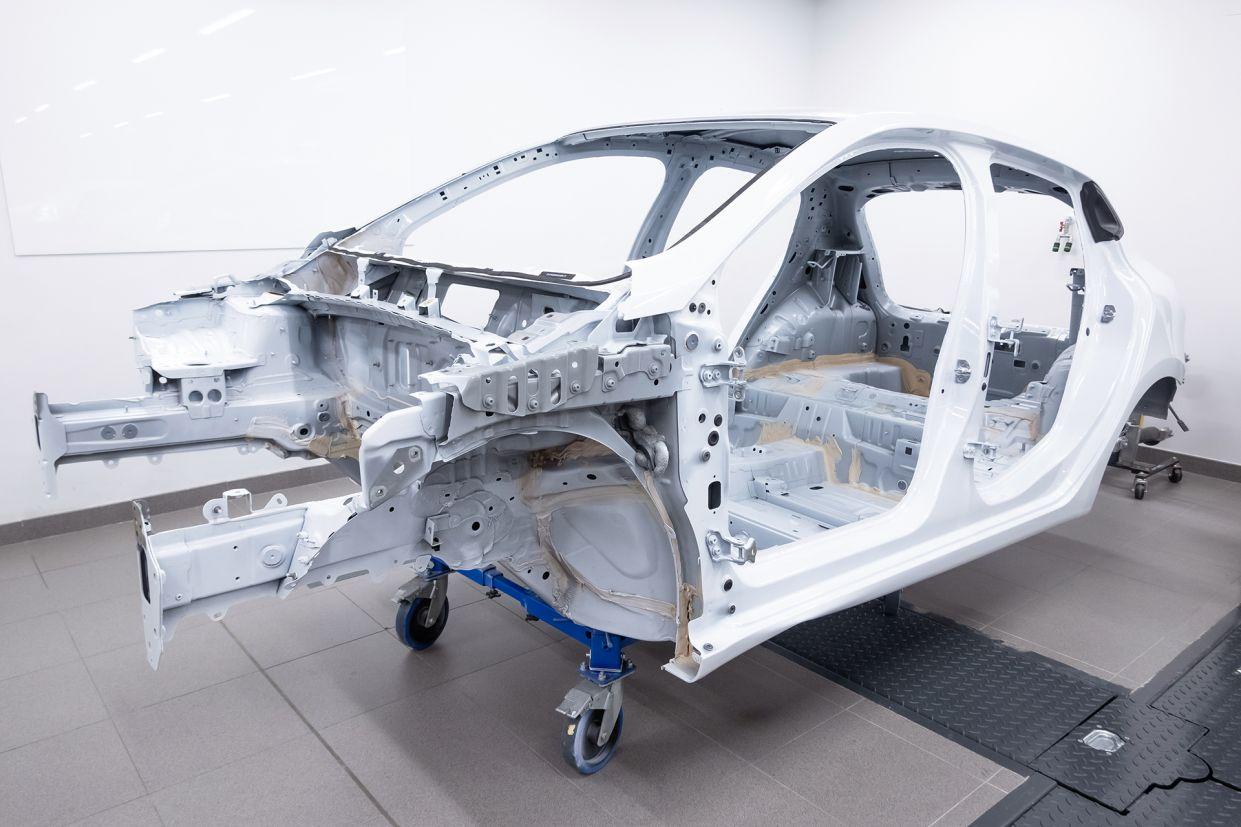 estrutura metalica de um carro monobloco