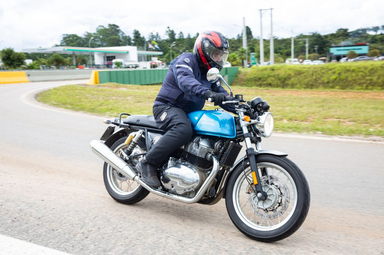 Royal Enfield Continental GT azul