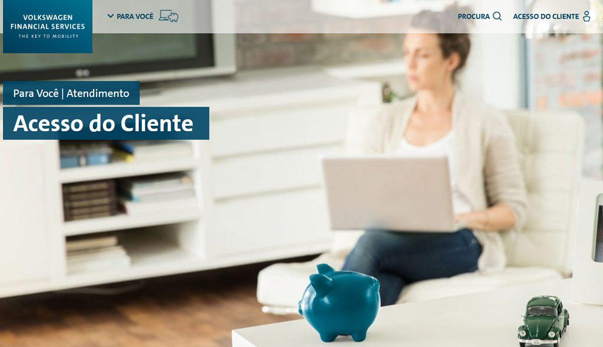 printscreen da pagina de atendimento ao cliente do volkswagen financial services