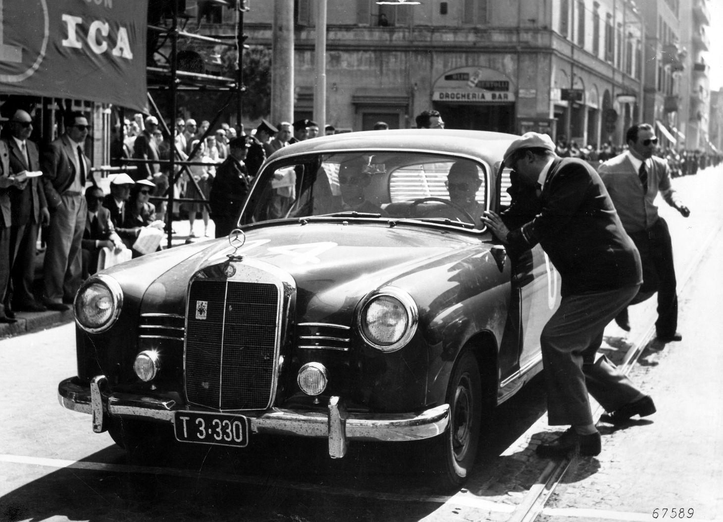mercedes benz 180d mille miglia 1955