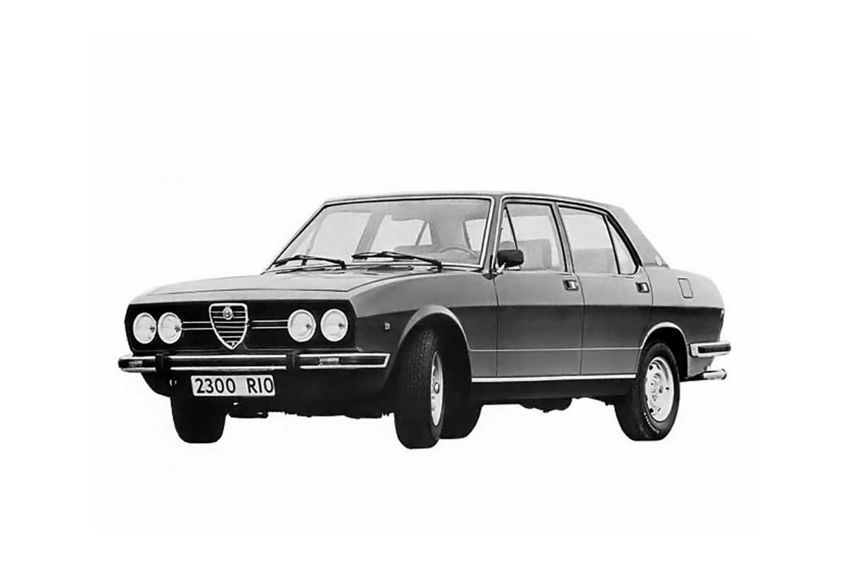 Carros nacionais exportados para países desenvolvidos: Alfa Romeo 2300 Rio