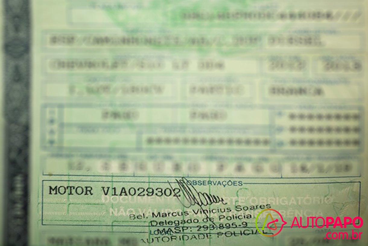 numero do motor no crlv documento de carro veículo