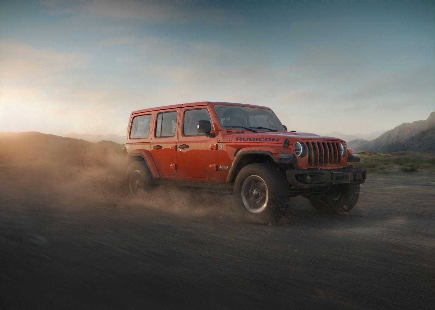 lateral jeep wrangler rubicon laranja