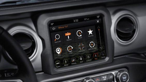central multimidia do jeep wrangler rubicon