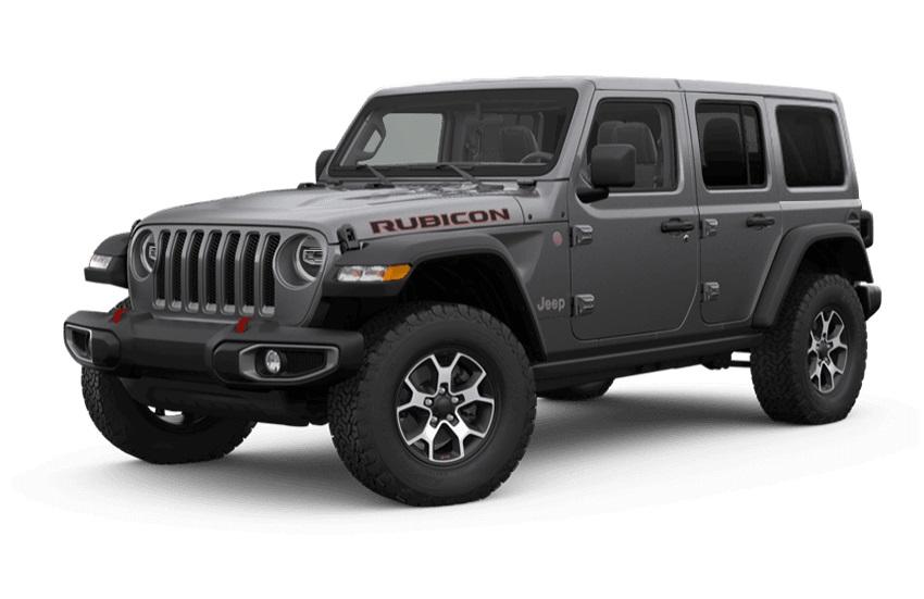 frente do jeep wrangler rubicon cinza