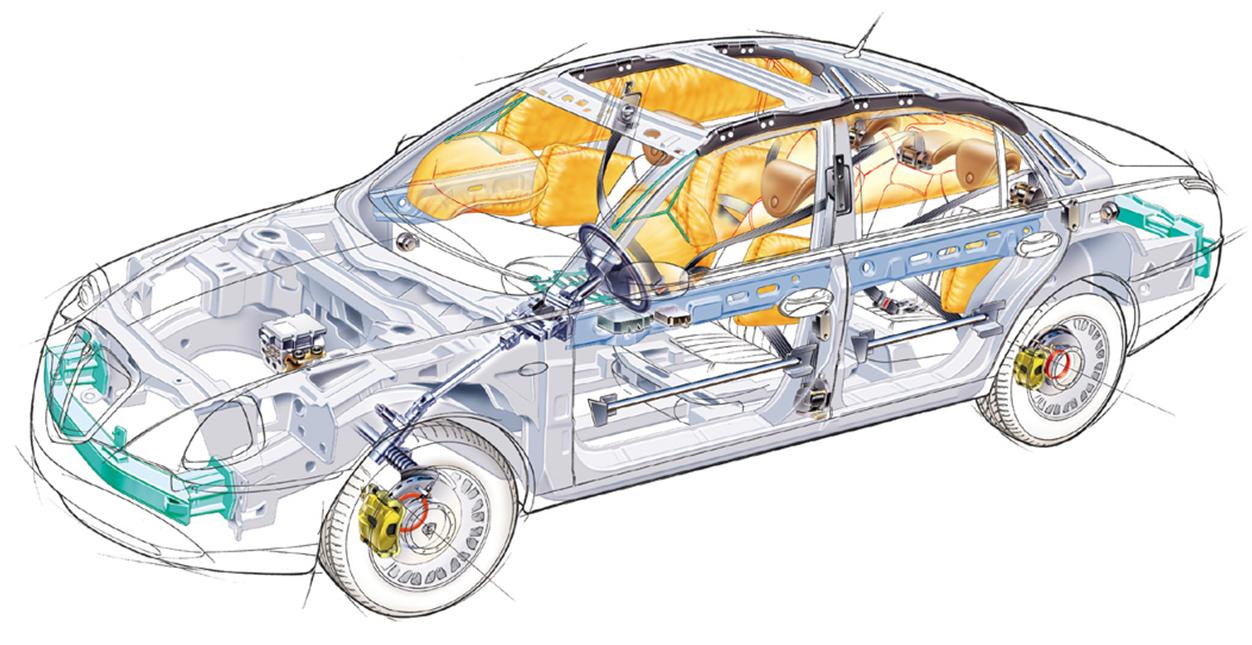 equipamentos de seguranca do carro barras de protecao nas portas airbags