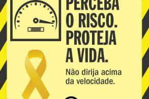campanha maio amarelo 2020 cuidado excesso de velocidade