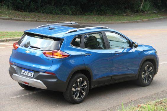 chevrolet tracker premier 2021 azul de tras