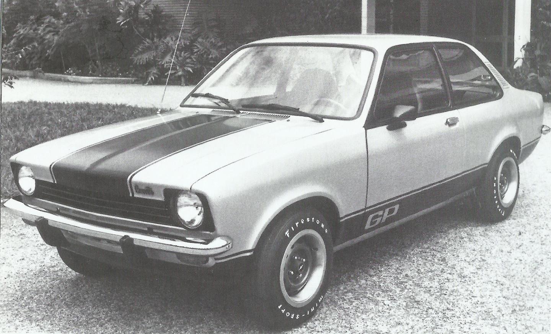 chevrolet chevette 1976 na versão esportiva gp, de frente