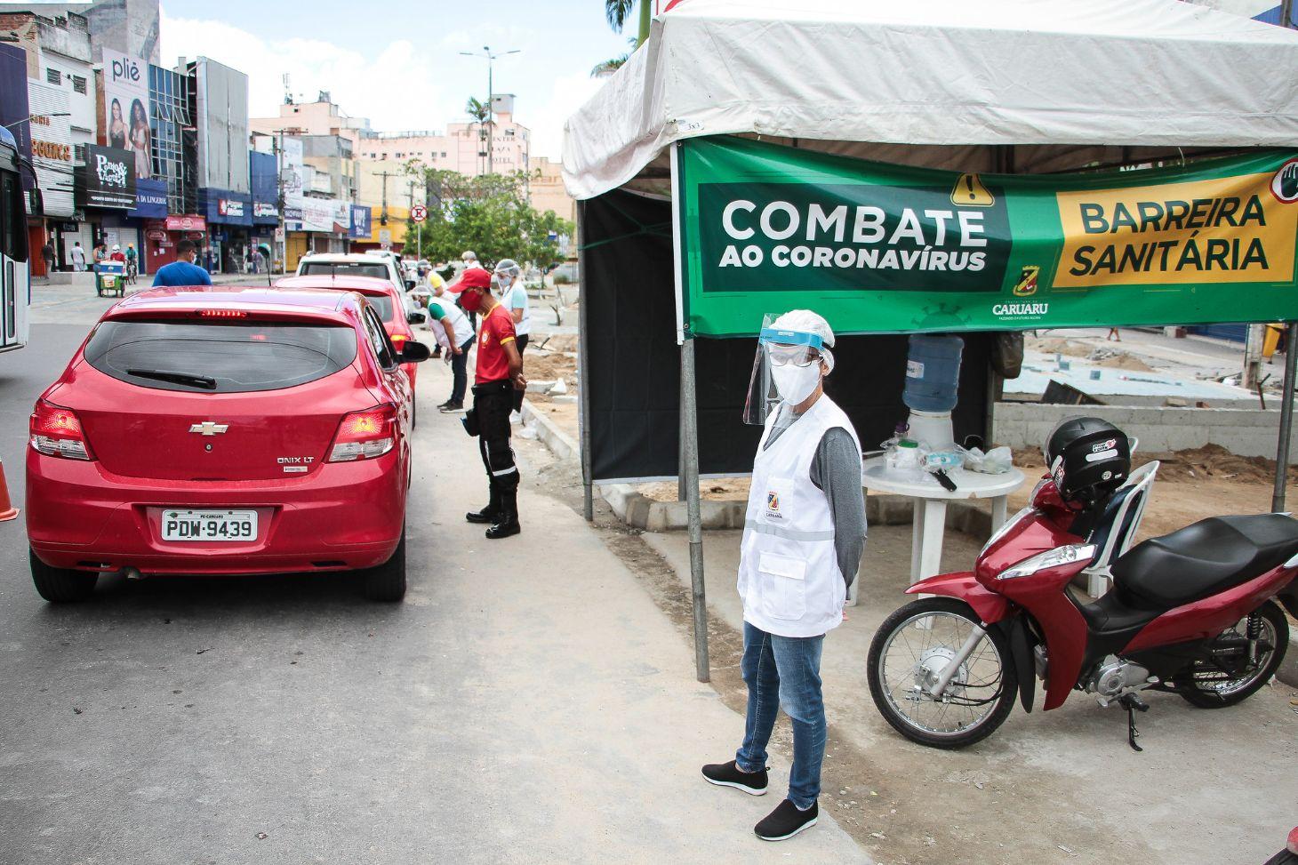 barreira sanitaria contra o novo coronavirus foto arnaldo felix prefeitura de caruaru