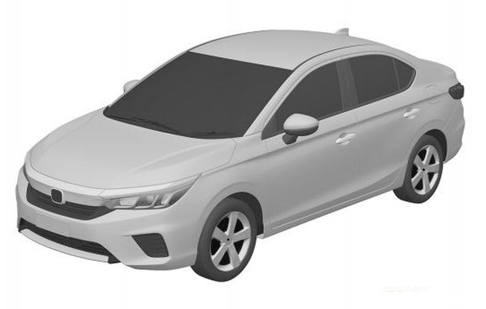 imagem do novo honda city registrado no inpi