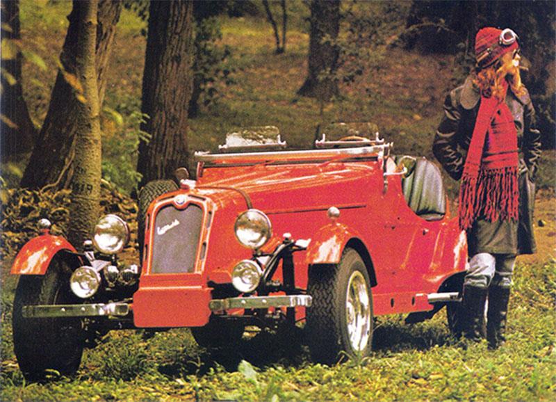 carros artesanais replicas: l'automobile monza p3 vermelho de frente