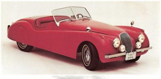 carros artesanais replicas: fera xk vermelho de frente