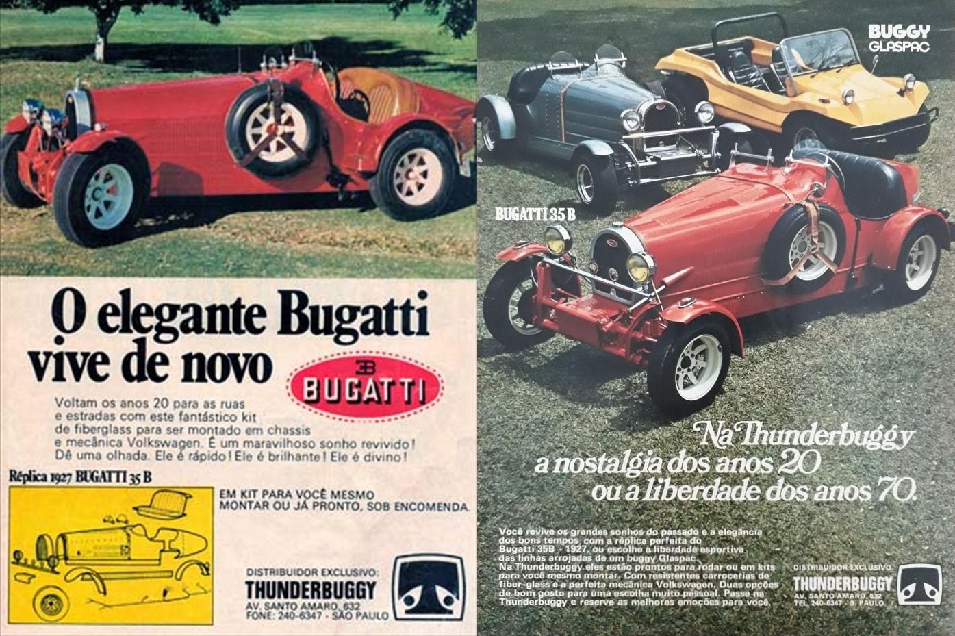 carros artesanais replicas thunderbuggy