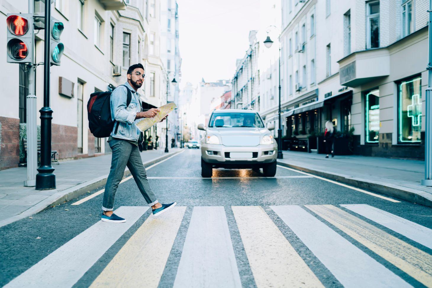suv faixa de pedestre