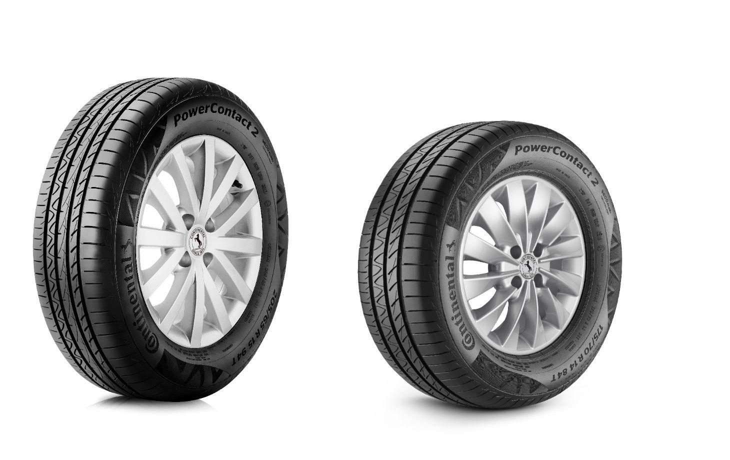 pneus power contact da marca continental com 3 e 4 sulcos