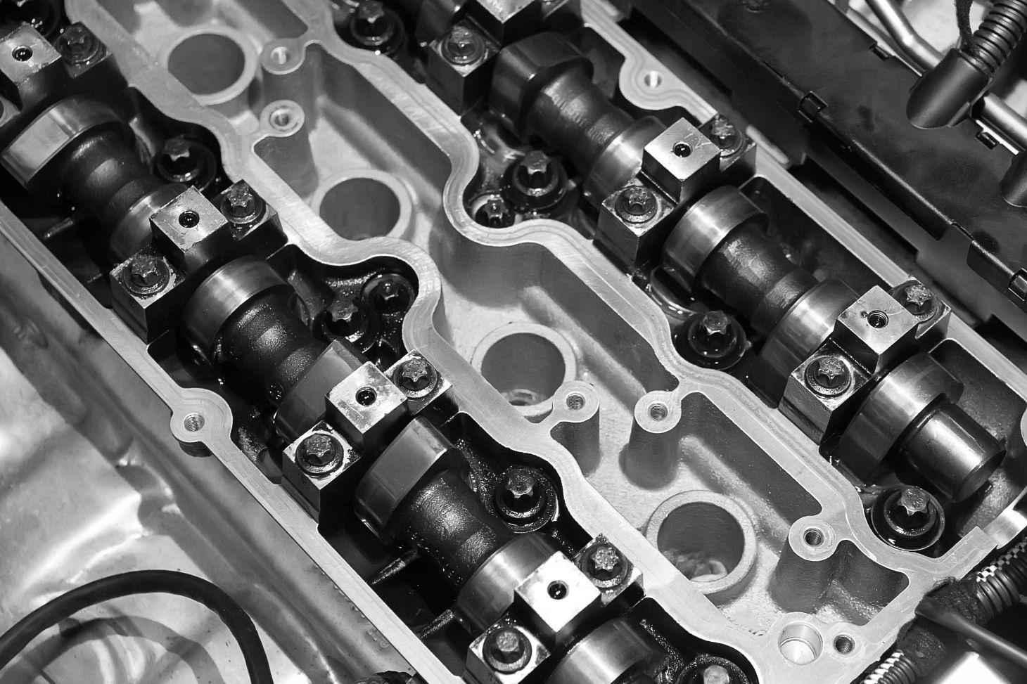 motor carro aberto tampa valvulas limpo
