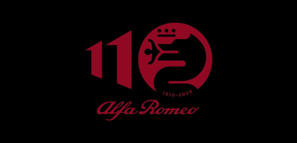 alfa romeo 110 anos logo comemorativa aniversario