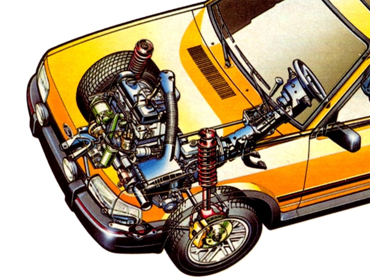 motor transversal do ford escort