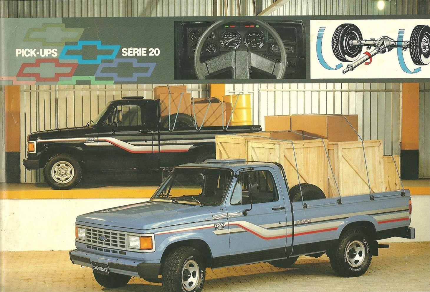 chevrolet d20 azul picape caminhonete frente
