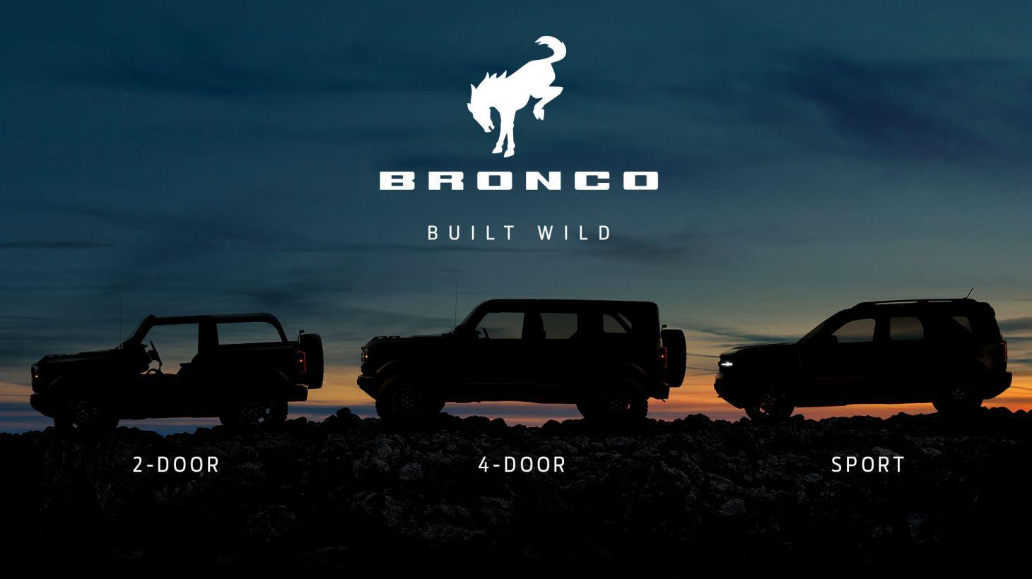ford bronco nova gama 3 modelos