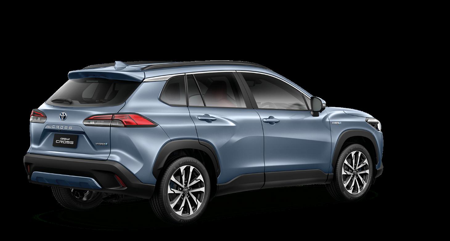 Toyota Corolla Cross 2021 com a traseira em detalhe