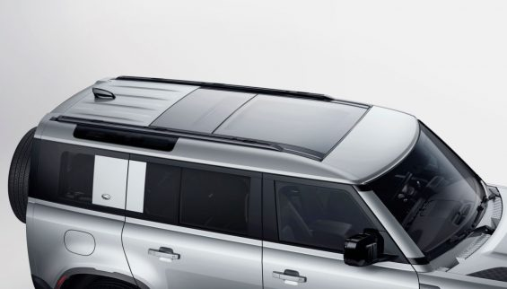 novo defender exterior teto solar panoramico
