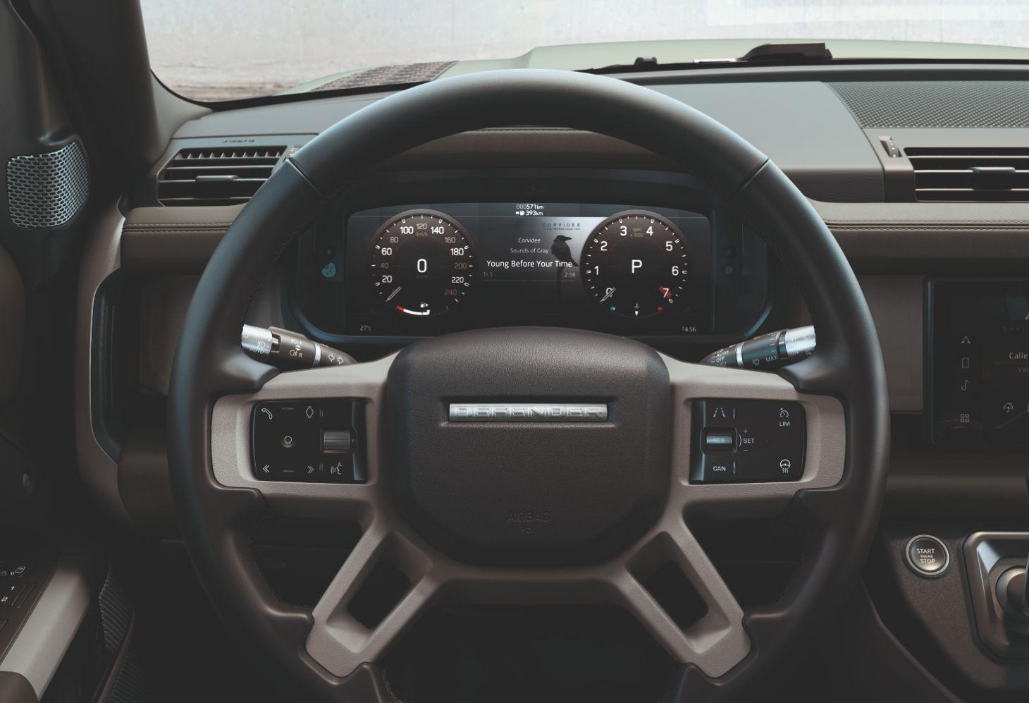 novo defender novo volante painel de instrumentos digital