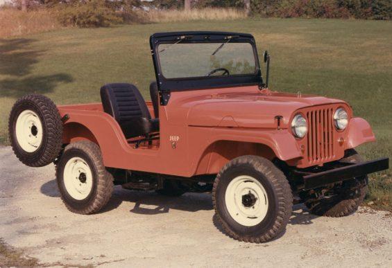 jeep cj5 1955 vermelho frente