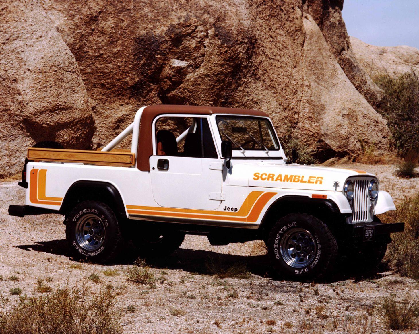 jeep cj8 scrambler 1982 lateral