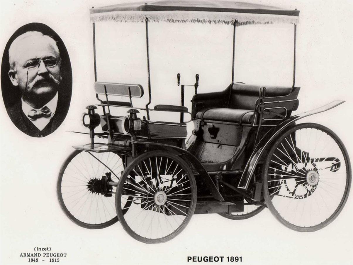 peugeot type 3, lançado em 1891