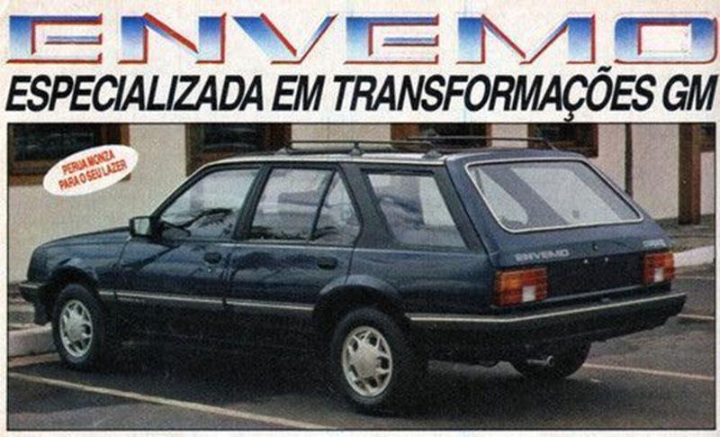 carros dos anos 80: chevrolet perua monza envemo traseira