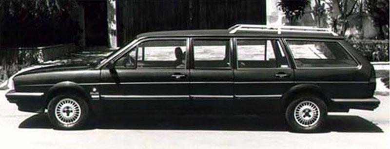 carros dos anos 80: volkswagen santana quantum limusine avallone