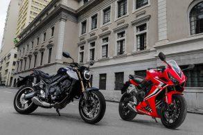 Honda CB 650R e CBR 650R: mesma moto, propostas diferentes