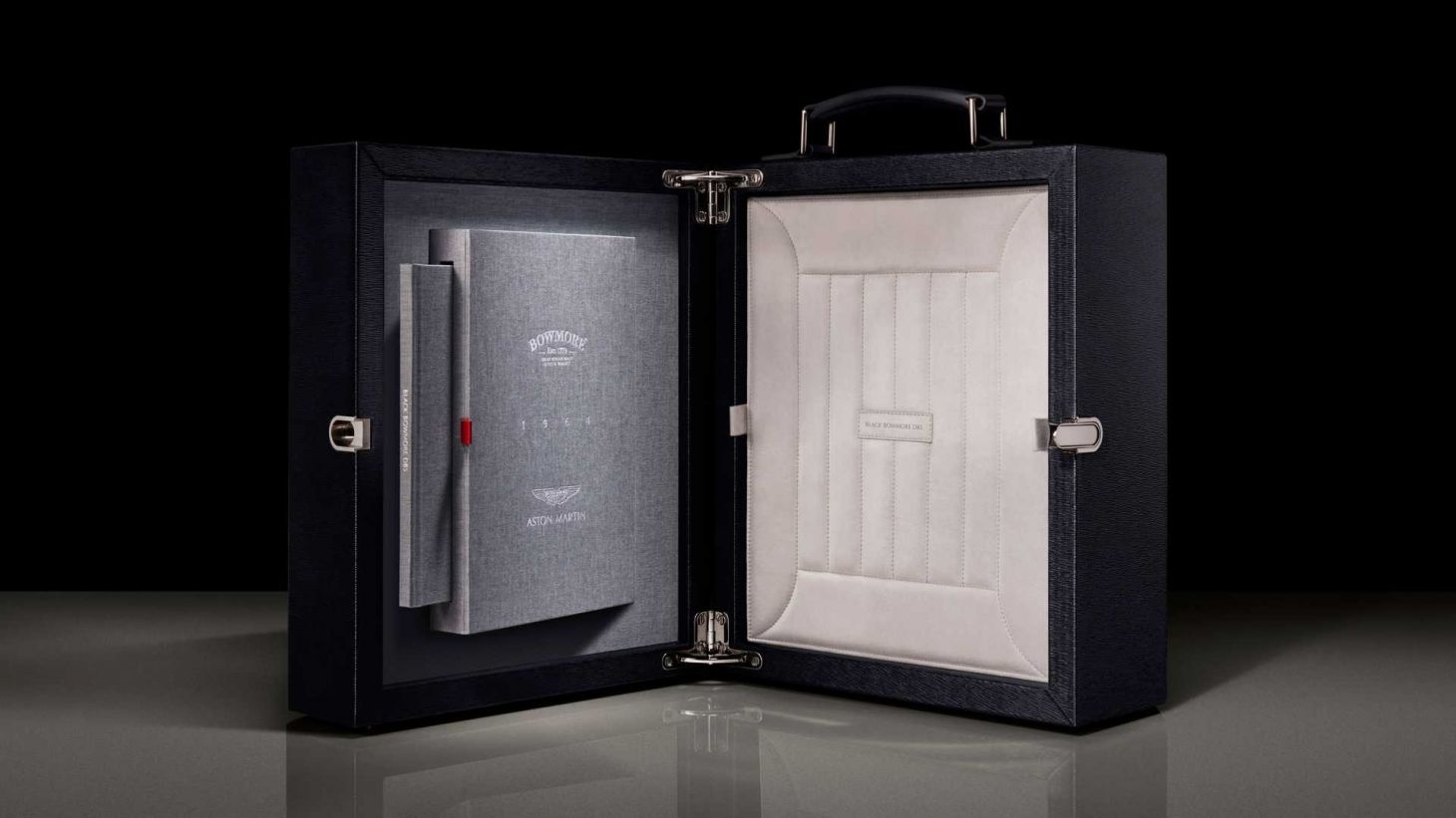 black bowmore aston martin whisky presentation case