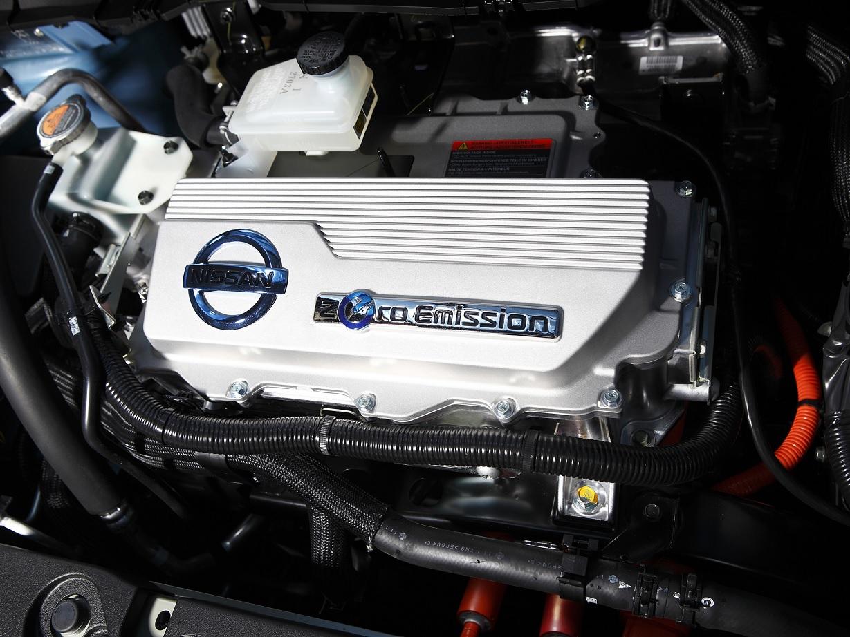 motor do Nissan Leaf, um dos carros totalmente elétricos do mercado