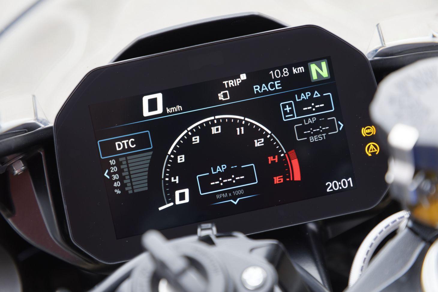 Painel da BMW S1000 RR 2020