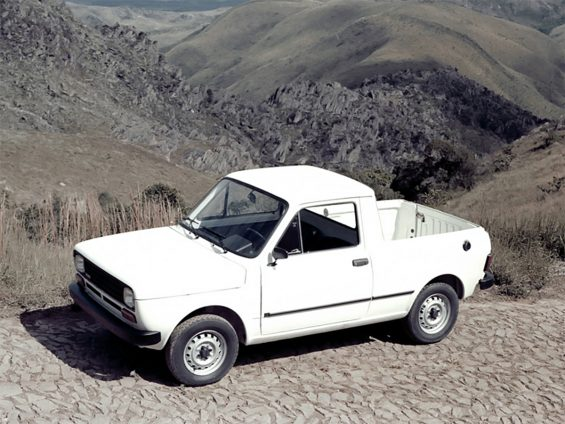 fiat 147 pick up branca lateral