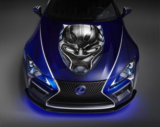 lexus_black_panther_inspired_lc_500_dianteira-549x435 Carro do Pantera Negra: conheça o futurista Lexus LC 500