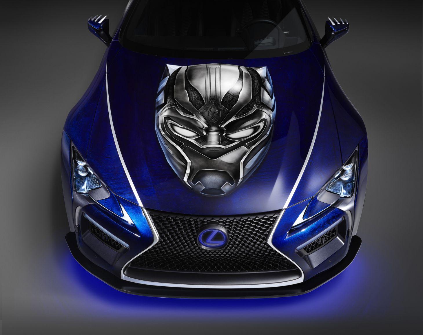 lexus_black_panther_inspired_lc_500_dianteira Carro do Pantera Negra: conheça o futurista Lexus LC 500