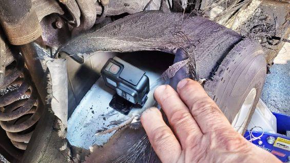 pneu furado camera dentro