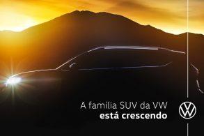 Novo SUV da Volkswagen tem silhueta divulgada em vídeo