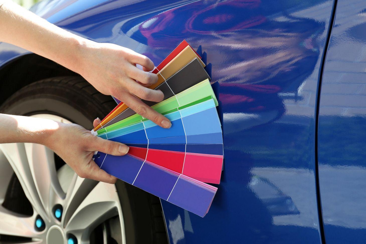 paleta de cores para carros