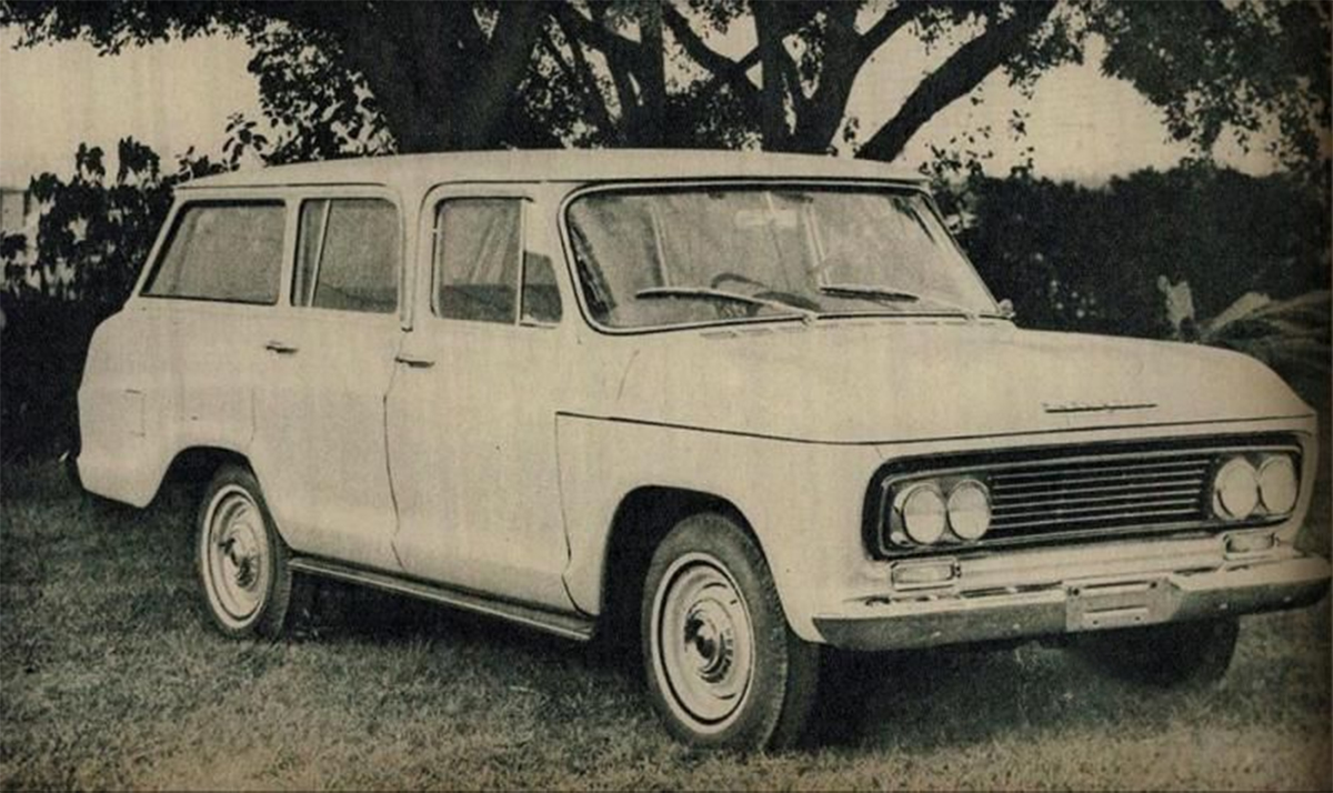 chevrolet c1416 1964 veraneio de frente
