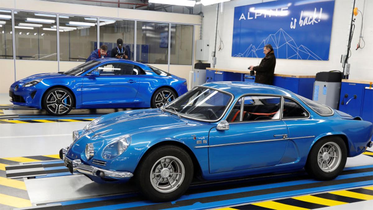 alpine a110 azul antigo e novo