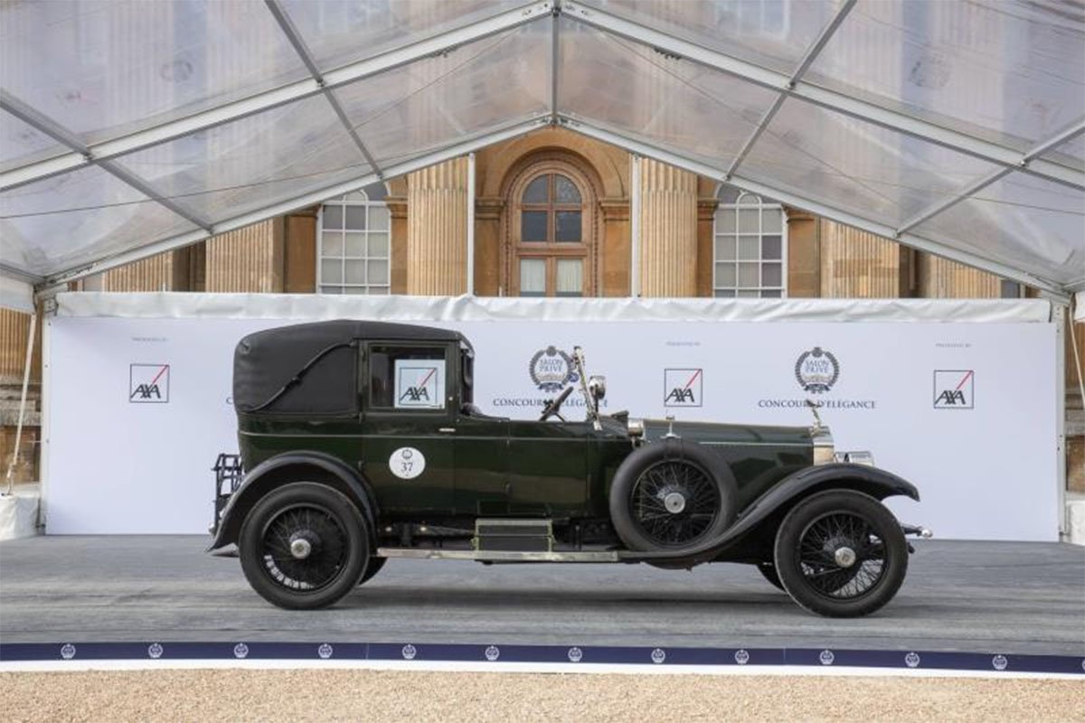 carros antigos: rolls royce 1919 no salon prive concours delegance 2020