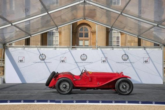carros antigos: alfa romeo 1933 no salon prive concours delegance 2020