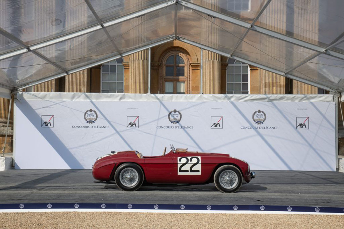 carros antigos: ferrari 1949 no salon prive concours delegance 2020
